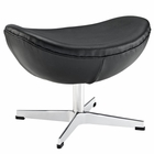 Modway Glove Leather Ottoman in Black MY-EEI-264-BLK