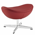 Modway Glove Leather Ottoman in Red MY-EEI-264-RED