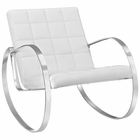 Modway Gravitas Upholstered Vinyl Lounge Chair in White MY-EEI-2084-WHI