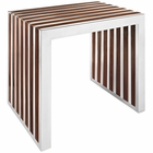 Modway Gridiron Small Wood Inlay Bench in Walnut MY-EEI-1429-WAL