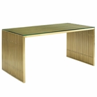 Modway Gridiron Stainless Steel Dining Table in Gold MY-EEI-3038-GLD