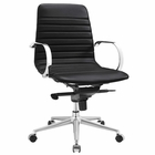 Modway Groove Ribbed Back Faux Leather Office Chair in Black MY-EEI-2859-BLK