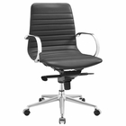 Modway Groove Ribbed Back Faux Leather Office Chair in Gray MY-EEI-2859-GRY