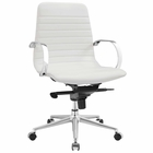 Modway Groove Ribbed Back Faux Leather Office Chair in White MY-EEI-2859-WHI