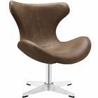 Modway Helm Faux Leather Lounge Chair in Brown MY-EEI-1804-BRN