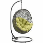 Modway Hide Outdoor Patio Wicker Rattan Swing Chair With Stand in Gray Peridot MY-EEI-2273-GRY-PER