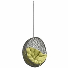 Modway Hide Outdoor Patio Wicker Rattan Swing Chair Without Stand in Gray Peridot MY-EEI-2654-GRY-PER