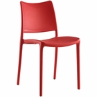 Modway Hipster Dining Side Chair in Red MY-EEI-1703-RED