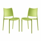 Modway Hipster Dining Side Chairs Set of 2 in Green MY-EEI-2424-GRN-SET