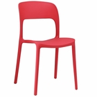 Modway Hop Dining Side Chair in Red MY-EEI-1461-RED