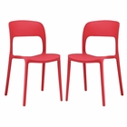Modway Hop Dining Side Chairs Set of 2 in Red MY-EEI-2403-RED-SET