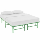 Modway Horizon Queen Stainless Steel Bed Frame in Green MY-MOD-5429-GRN