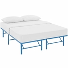 Modway Horizon Queen Stainless Steel Bed Frame in Light Blue MY-MOD-5429-LBU