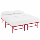 Modway Horizon Queen Stainless Steel Bed Frame in Red MY-MOD-5429-RED