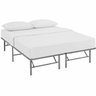 Modway Horizon Queen Stainless Steel Bed Frame in Silver MY-MOD-5429-SLV