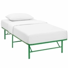 Modway Horizon Twin Stainless Steel Bed Frame in Green MY-MOD-5427-GRN