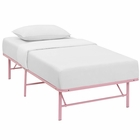 Modway Horizon Twin Stainless Steel Bed Frame in Pink MY-MOD-5427-PNK