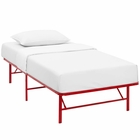 Modway Horizon Twin Stainless Steel Bed Frame in Red MY-MOD-5427-RED
