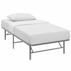 Modway Horizon Twin Stainless Steel Bed Frame in Silver MY-MOD-5427-SLV