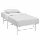 Modway Horizon Twin Stainless Steel Bed Frame in White MY-MOD-5427-WHI