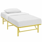 Modway Horizon Twin Stainless Steel Bed Frame in Yellow MY-MOD-5427-YLW