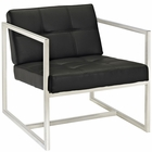 Modway Hover Faux Leather Lounge Chair in Black MY-EEI-263-BLK