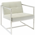 Modway Hover Faux Leather Lounge Chair in White MY-EEI-263-WHI