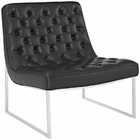 Modway Ibiza Upholstered Vinyl Lounge Chair in Black MY-EEI-2089-BLK