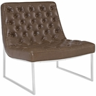 Modway Ibiza Upholstered Vinyl Lounge Chair in Brown MY-EEI-2089-BRN
