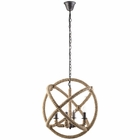 Modway Intention Rope and Steel Chandelier in Brown MY-EEI-1575