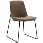 Modway Invite Dining Faux Leather Side Chair in Brown MY-EEI-1805-BRN