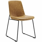 Modway Invite Dining Faux Leather Side Chair in Tan MY-EEI-1805-TAN