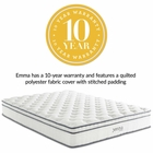 "Modway Jenna 10"" King Pillow Top Innerspring Mattress in  MY-MOD-5771-WHI"