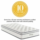 "Modway Jenna 10"" Twin Pillow Top Innerspring Mattress in  MY-MOD-5768-WHI"