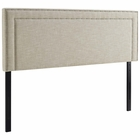 Modway Jessamine King Upholstered Fabric Headboard in Beige MY-MOD-5380-BEI