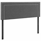 Modway Jessamine King Upholstered Fabric Headboard in Gray MY-MOD-5380-GRY