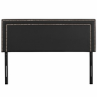 Modway Jessamine Queen Faux Leather Headboard in Black MY-MOD-5377-BLK