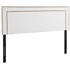 Modway Jessamine Queen Faux Leather Headboard in White MY-MOD-5377-WHI