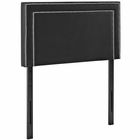Modway Jessamine Twin Faux Leather Headboard in Black MY-MOD-5373-BLK