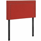 Modway Jessamine Twin Upholstered Fabric Headboard in Atomic Red MY-MOD-5374-ATO