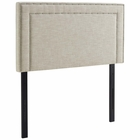 Modway Jessamine Twin Upholstered Fabric Headboard in Beige MY-MOD-5374-BEI