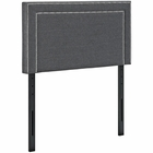 Modway Jessamine Twin Upholstered Fabric Headboard in Gray MY-MOD-5374-GRY