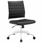 Modway Jive Armless Mid Back Faux Leather Office Chair in Black MY-EEI-1525-BLK