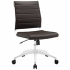 Modway Jive Armless Mid Back Faux Leather Office Chair in Brown MY-EEI-1525-BRN