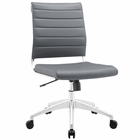 Modway Jive Armless Mid Back Faux Leather Office Chair in Gray MY-EEI-1525-GRY