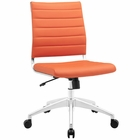 Modway Jive Armless Mid Back Faux Leather Office Chair in Orange MY-EEI-1525-ORA