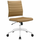 Modway Jive Armless Mid Back Faux Leather Office Chair in Tan MY-EEI-1525-TAN