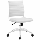 Modway Jive Armless Mid Back Faux Leather Office Chair in White MY-EEI-1525-WHI