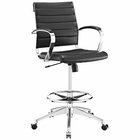 Modway Jive Faux Leather Drafting Chair in Black MY-EEI-2236-BLK