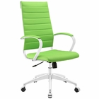Modway Jive Highback Faux Leather Office Chair in Bright Green MY-EEI-272-BGR